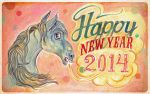 Happy Horse Year 2014 by miorats