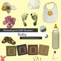Baby Photoshop and GIMP Brushes by redheadstock