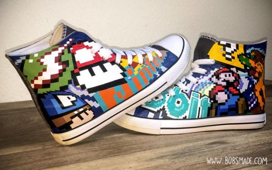 Custom 8bit Chucks by Bobsmade