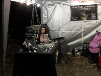 My Booth set up by graywolfsmaille