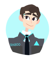 Detroit: Become Human fanart - Connor by Fro-Frog