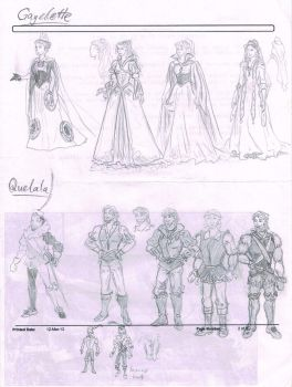 Gayelette and Quelala Character Designs by Hand-Sam-Art
