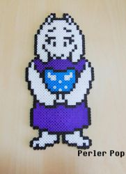 Toriel Overworld Sprite Perler by Perler-Pop