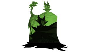 Maleficent Silhouette- Standing by CMWatts