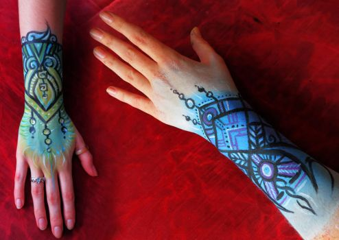 Hand paintings by Tiger-tyger