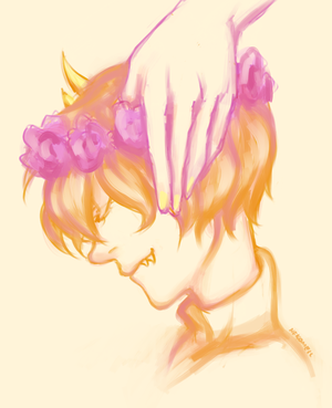 The Bee in the flower crown by nekomell