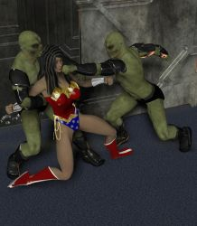 Wonder Woman Attacked 3 by cattle6