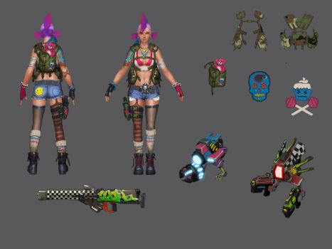 Gemini - Apocapunk Skin Concept by Taaks
