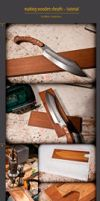 wooden sheath tutorial by WSi