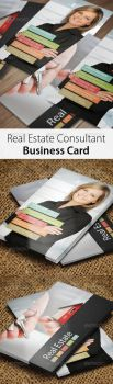 Real Estate Consultant Business Card by hanifharoon
