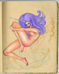 Unicorn Lady by pinupsbykeeegan