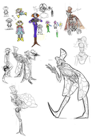 Candle Cove doodles by jujufoxfire