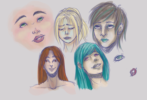 Face Doodles by Phaiyle