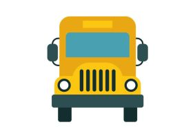 School Bus Flat Vector Icon by superawesomevectors