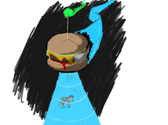Unidentified Flying Burger by TheMagicalFish