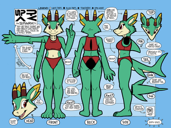 ~SPARK~ -Reference Sheet- (Colored by SLaveDog554) by megawolf77