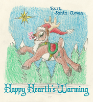 Santa Cloven Greetings by tymime