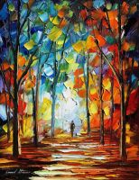 Morning by Leonid Afremov by Leonidafremov