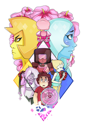 Crystal Gems vs. Diamonds by colorfulkitten