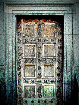 Wooden door by bebadawn