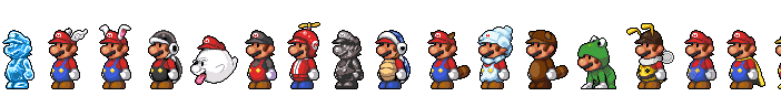 Mario Power-ups by Pokekoks