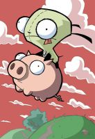 Gir and Piggy by dfens270