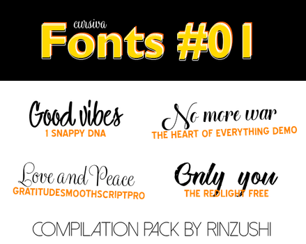 Pack 4 fonts #1 by Rinzushi