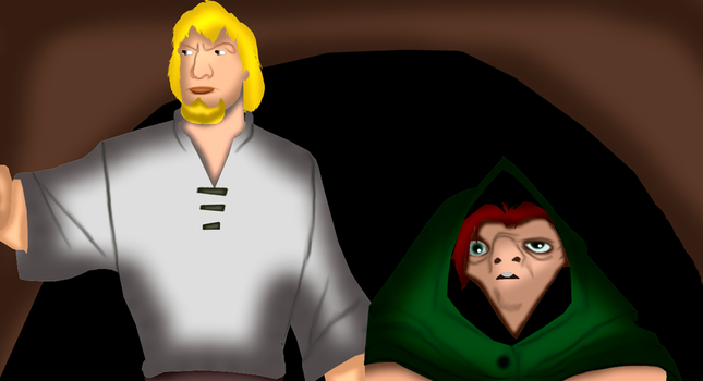 Quasimodo and Phebous by GronHatchat