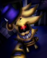 FNAF | FredBear NightMare by Sanity-Paints