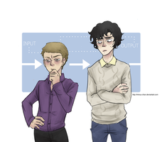 bbc sherlock: BODY SWAP by Minuu-chan