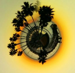 Tiny Pier Planet by thealchemistchamber