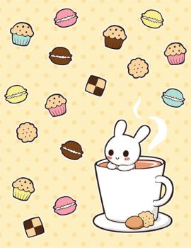 Bunny in cup by Yume-fran