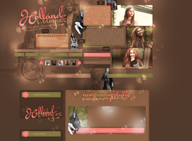 Layout ft. Holland Roden by PixxLussy