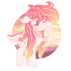 pink flower pony OTA (open) by KatieThePonyArtist