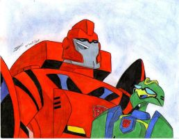 Ironhide and Wasp laughing TA by ailgara