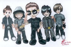 Avenged Sevenfold Chibis by AshFantastic