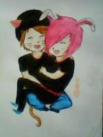 2013 drawing - sweet couple :) by nielopena