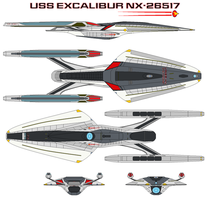 USS Excalibur NX-26517 by bagera3005