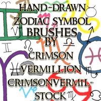 Zodiac Hand Drawn Symbols by crimsonvermil-stock