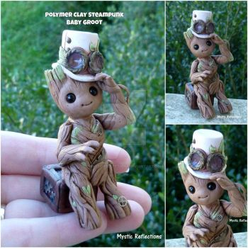 Steampunk Baby Groot by MysticReflections