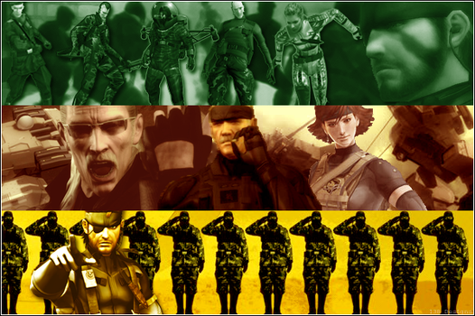 Metal Gear Solid: 3 Snakes by Chuck138