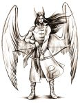 Winged Archer by Aniril-Amakiir