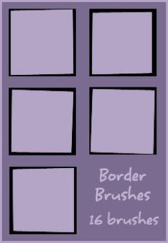 Icon Borders Set 1 by daughterofsnape