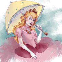 Princess Peach by selena-goulding