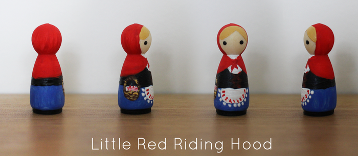 Little Red Riding Hood Pocket Peg Doll by becki-moorcroft