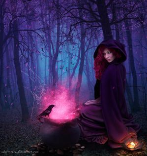 Midnight magic in the woods by OriginStory