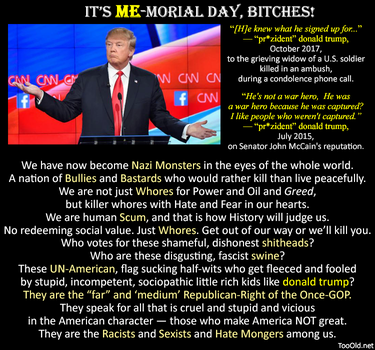 It's ME-morial Day, Bitches! by PopeyeTheoB