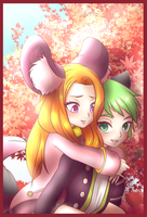 Lucil and Clover [ Marirubi Commission ] by Pyoco