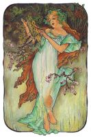 Mucha's Seasons - Spring by AnnaSulikowska