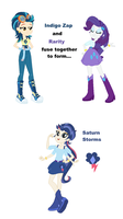 Indigo Zap and Rarity Fusion by BerryPunchrules